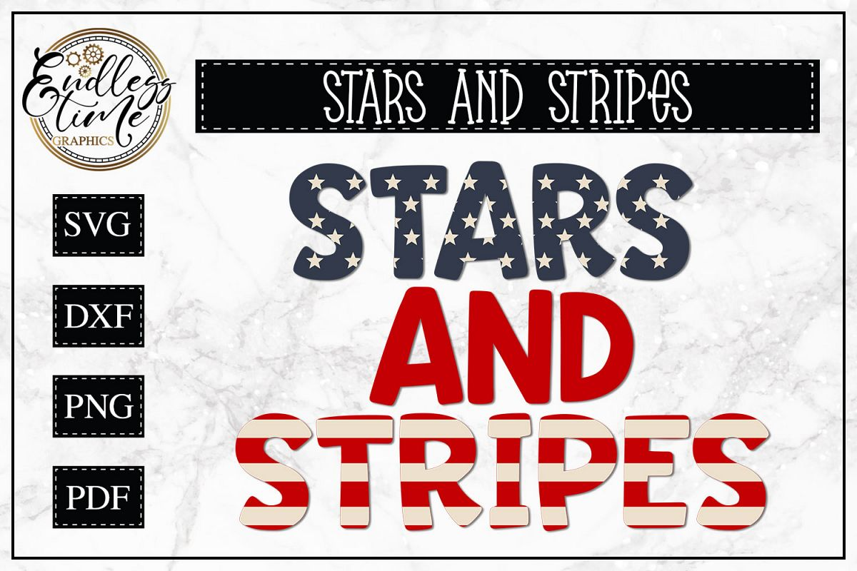 Stars and Stripes - A Layered Patriotic SVG example image 1