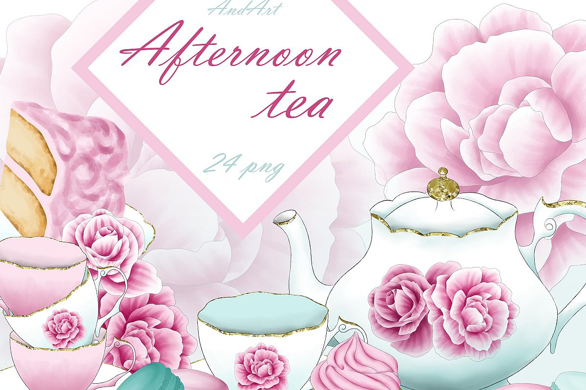 Afternoon tea clipart example image 1