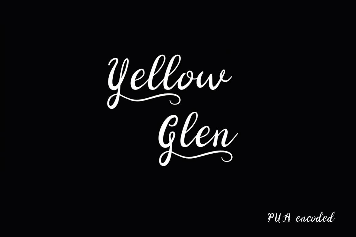 Yellow Glen Script Font example image 1
