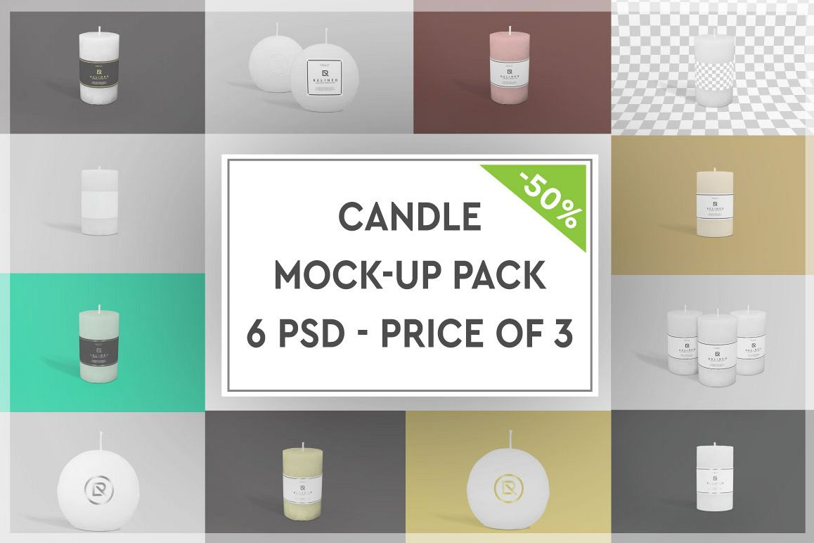 Candle Mock-up Pack #1 example image 1