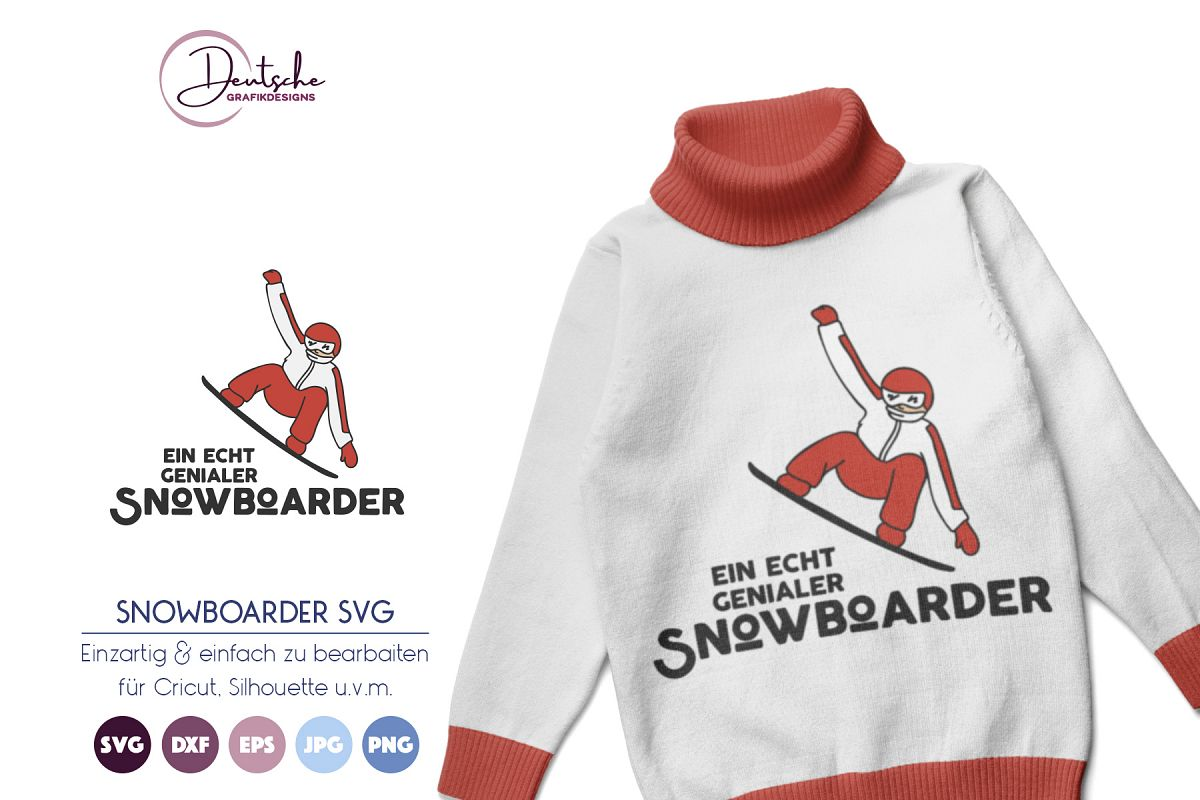 Snowboarder SVG example image 1