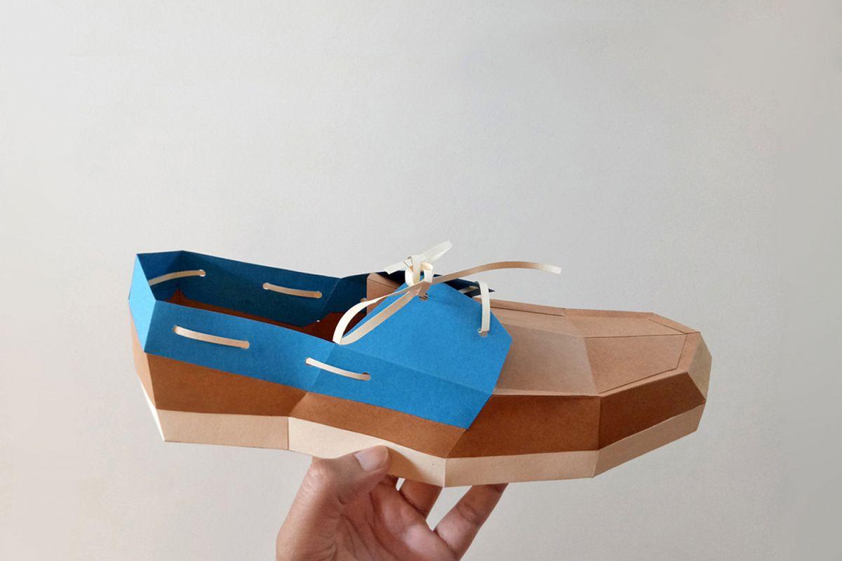 DIY Boat Shoe - 3d papercrafts example image 1