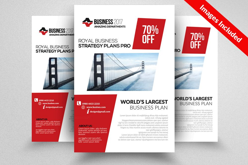 Bookkeeping & Accounting Services Psd Flyer Templates example image 1