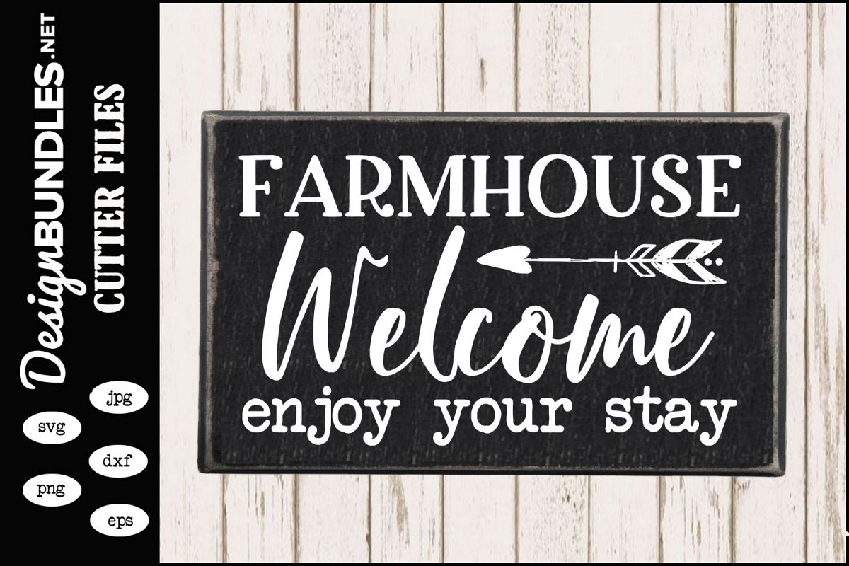 Farmhouse Welcome SVG example image 1
