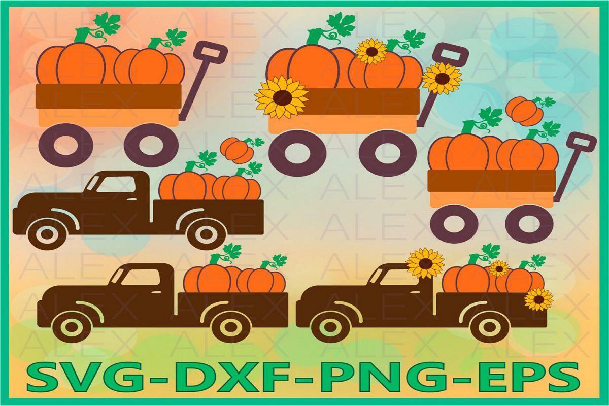 Pumpkin SVG, Truck Svg, Truck Pumpkin svg, Halloween svg example image 1