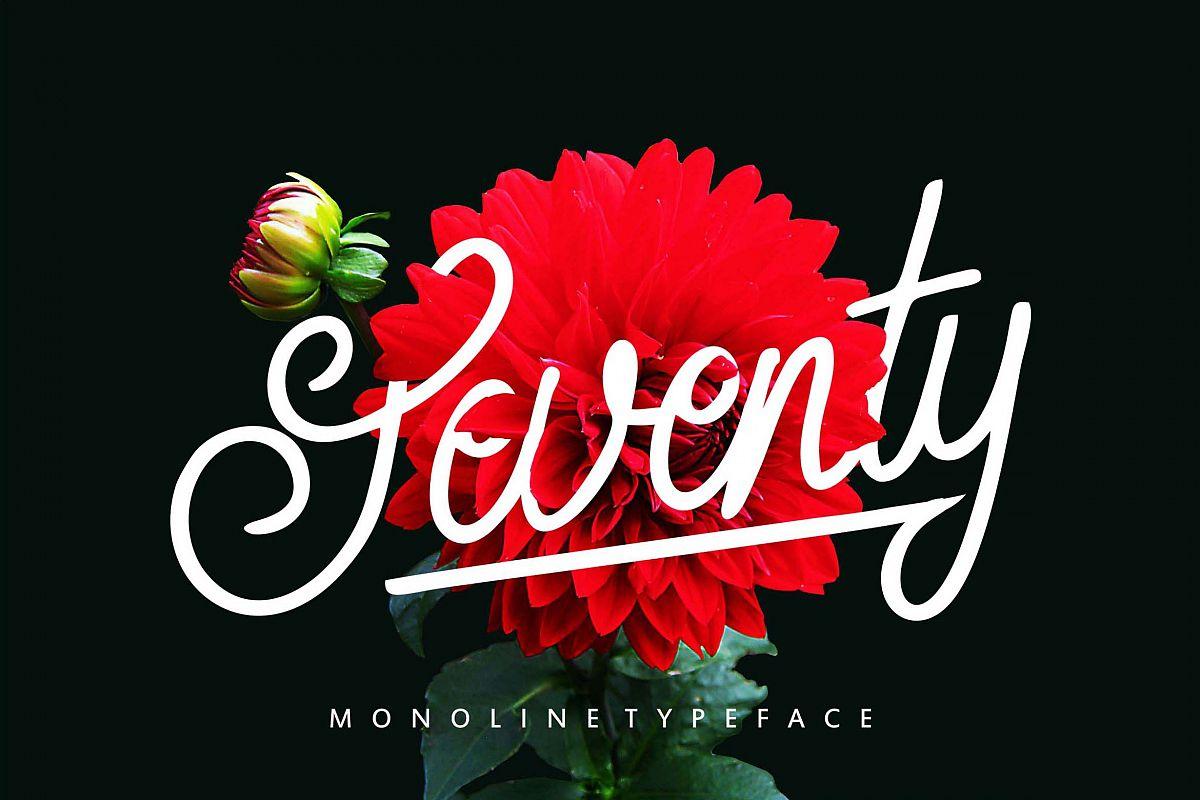 Seventy | Monoline Typeface example image 1