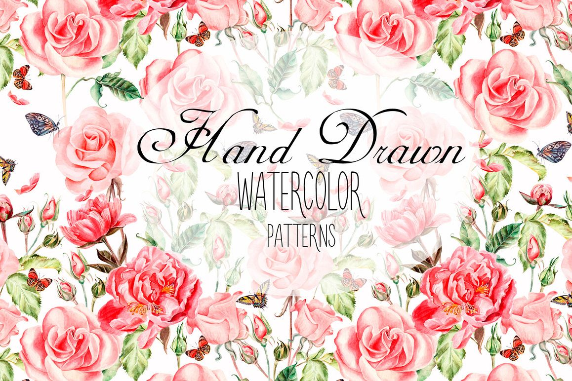 Hand Drawn Watercolor PATTERNS example image 1