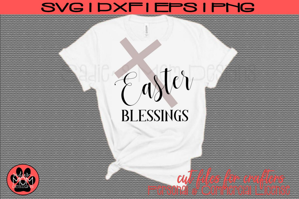 Easter Blessings with Cross | SVG Cut File example image 1