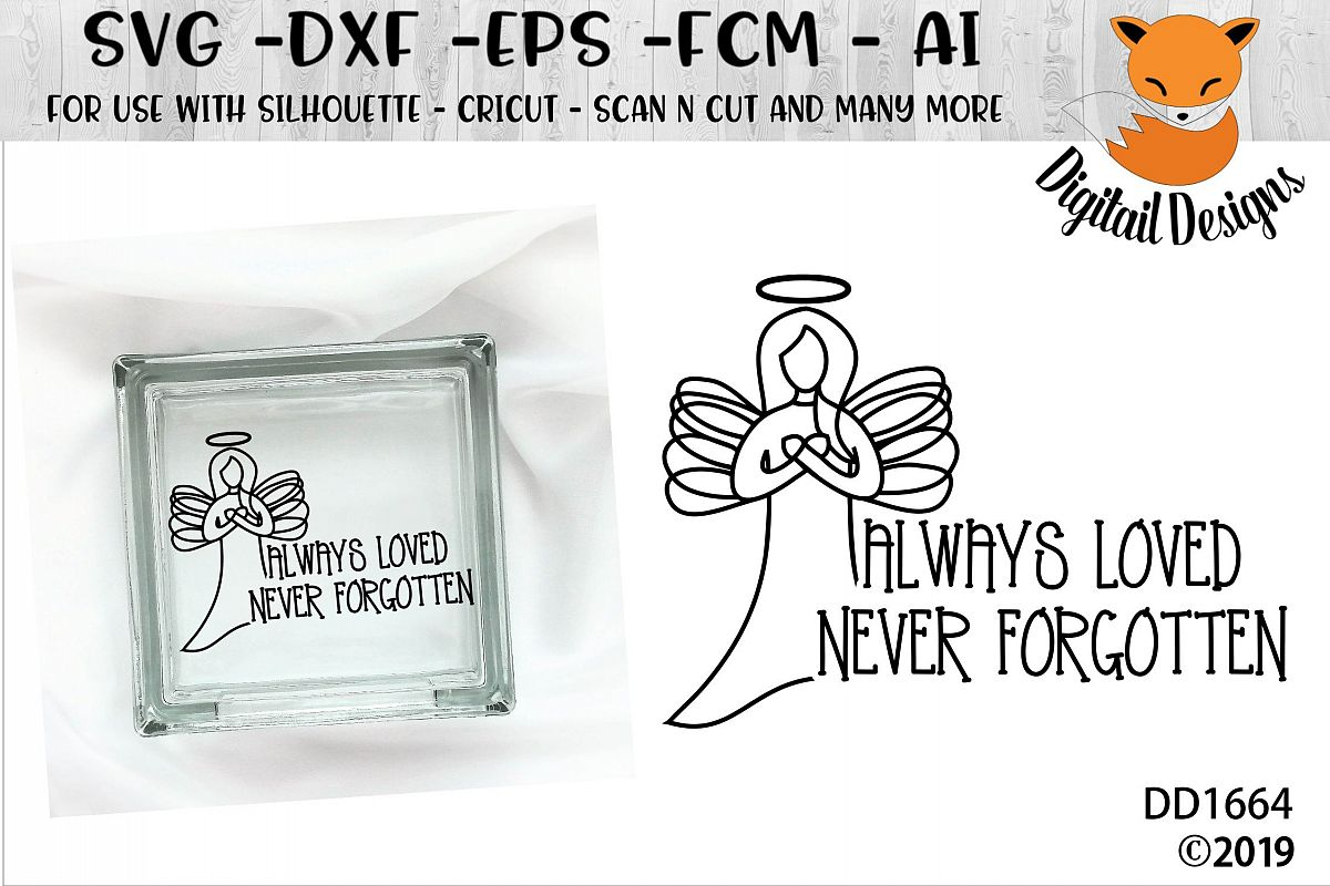 Memorial Always Loved Never Forgotten SVG example image 1