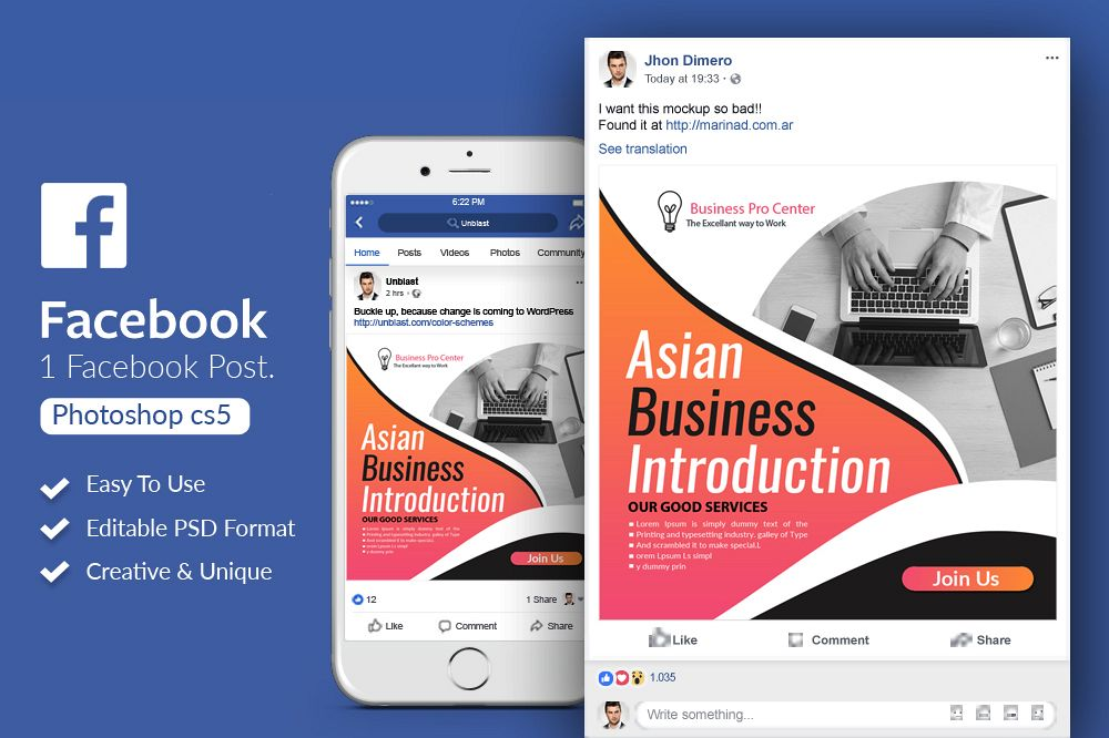 Business Facebook Post Banners example image 1