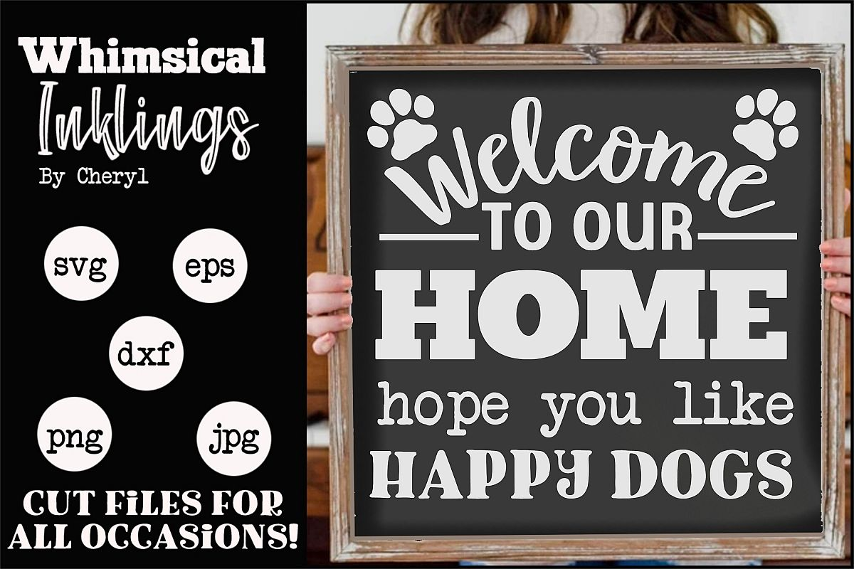 Happy Dogs SVG example image 1