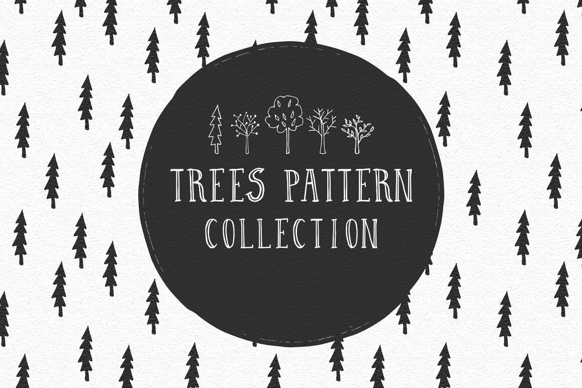 Trees pattern collection example image 1