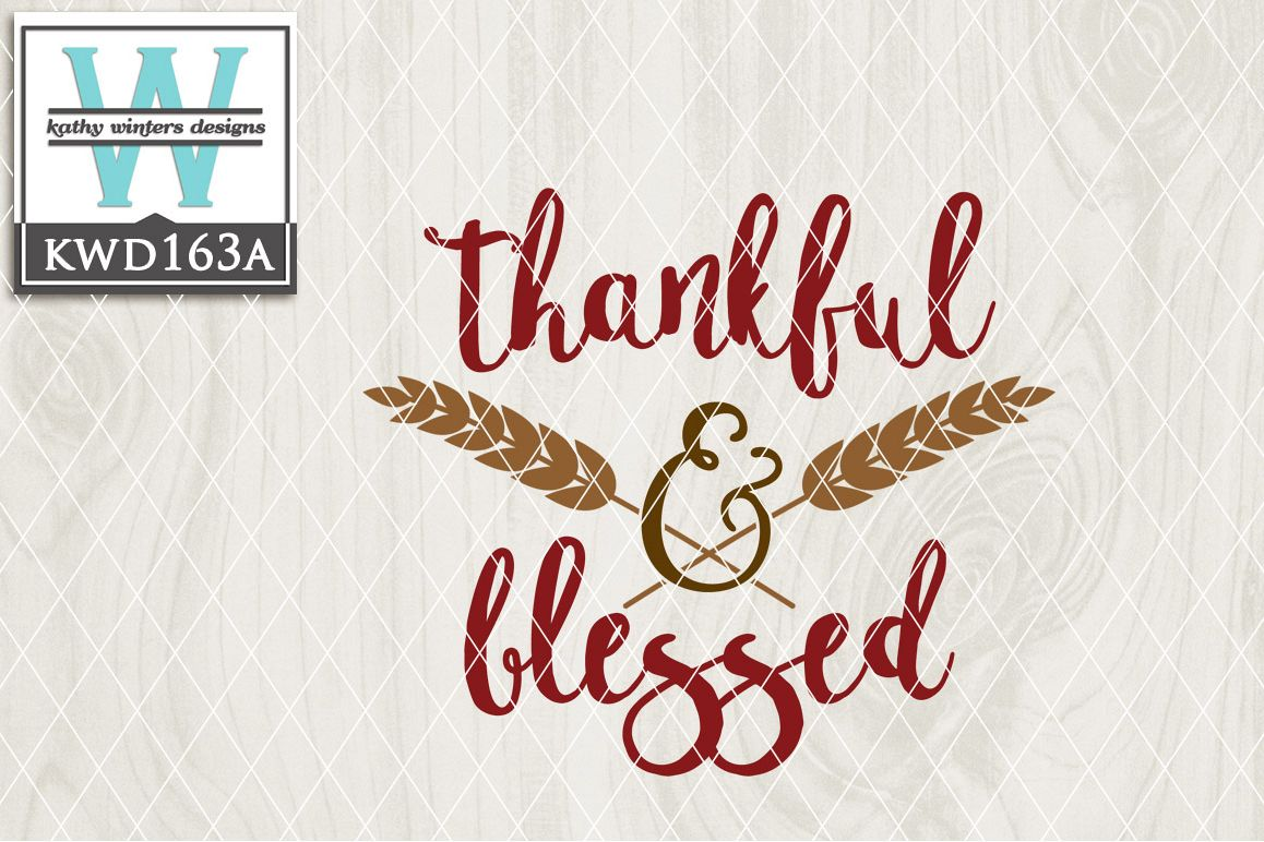 Thankful Cutting File KWD163A example image 1
