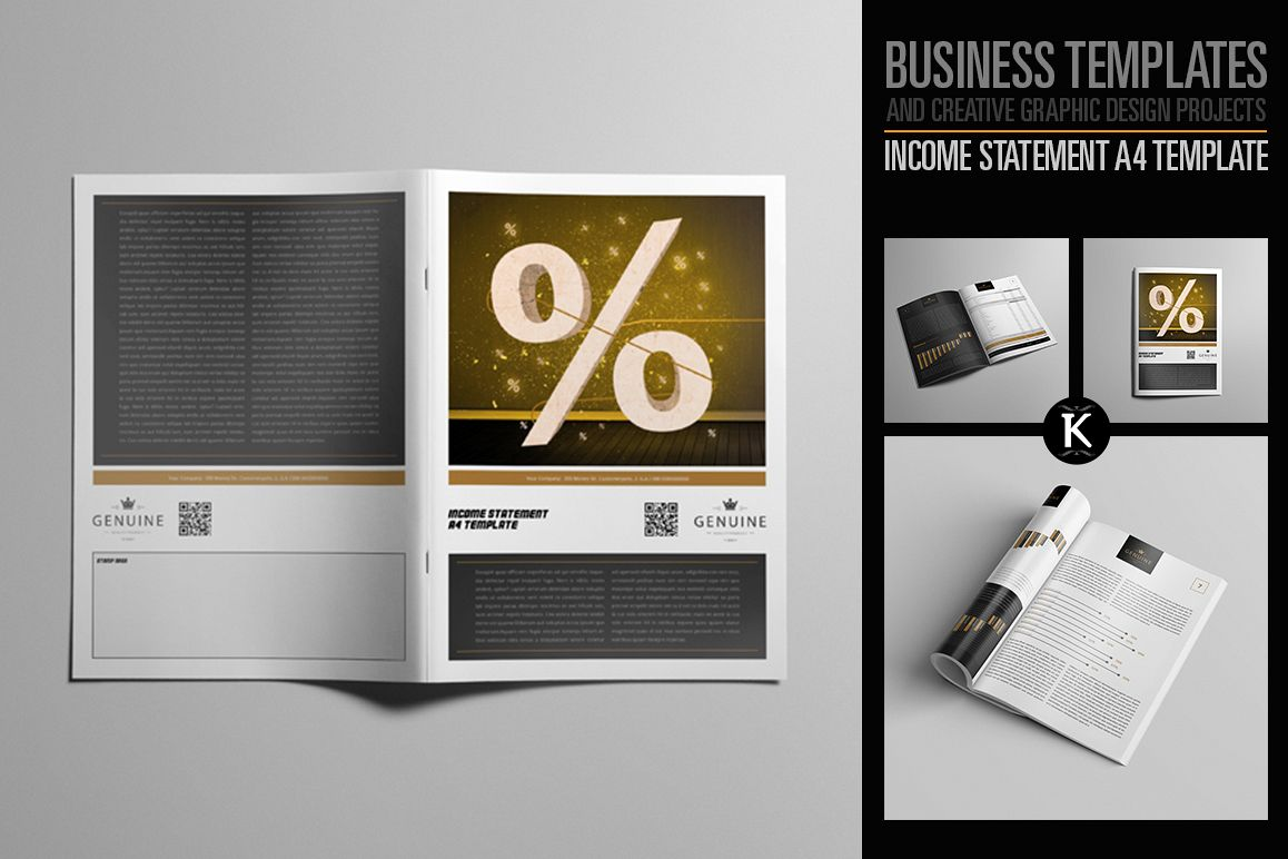 Income Statement A4 Template example image 1