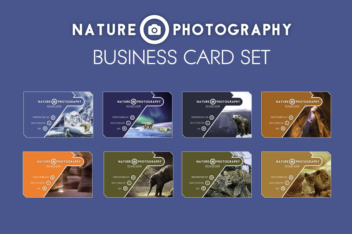 Nature Photography Business Card Set example image 1