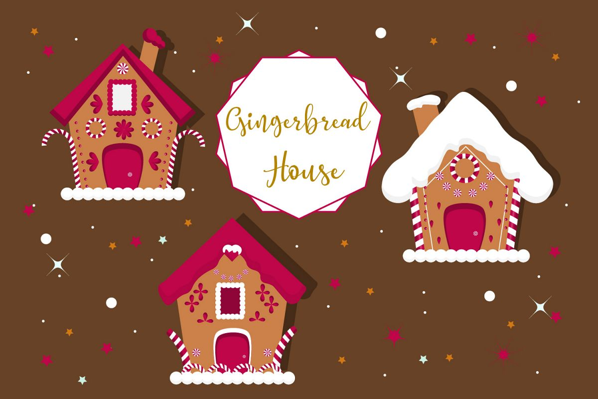 Christmas gingerbread house clipart, christmas example image 1