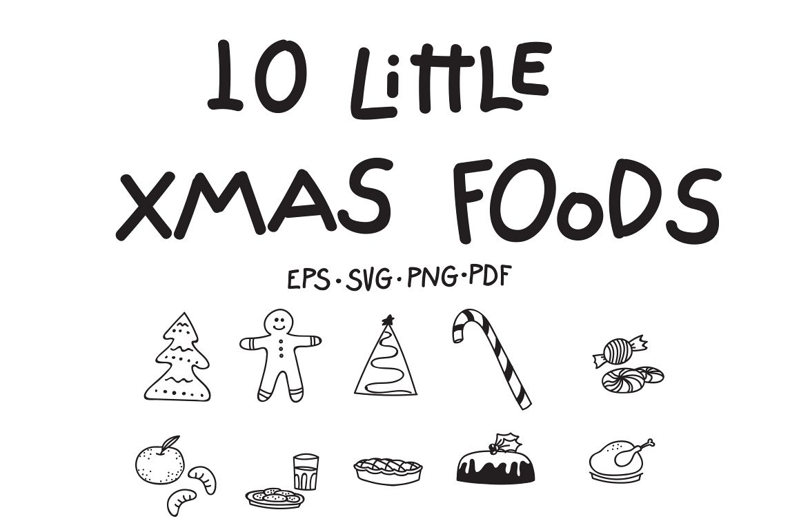 10 Little Xmas Foods example image 1