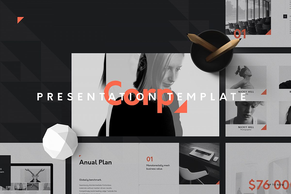 Corp Keynote Presentation Template example image 1