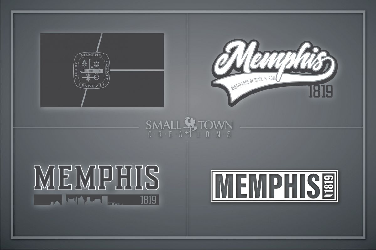 Memphis, Birthplace of Rock & Roll, Tennessee, PRINT, & CUT example image 1