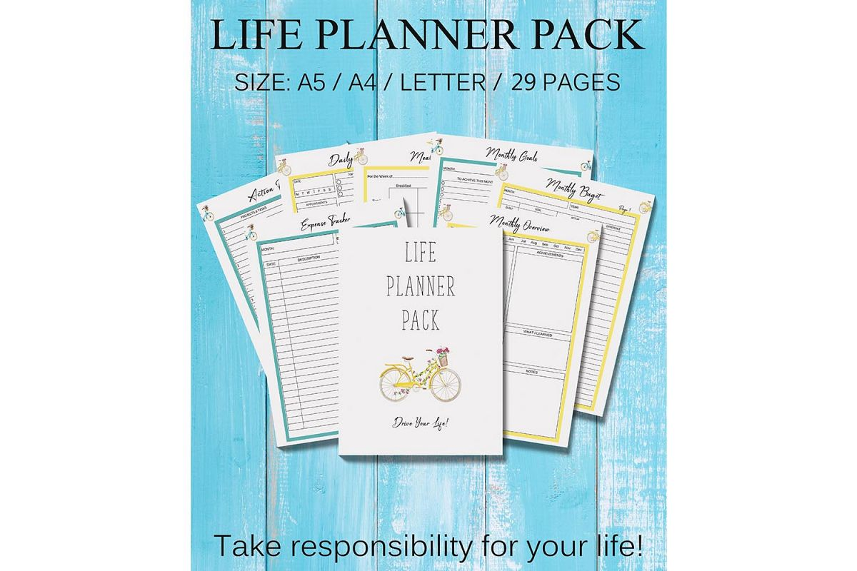Life Planner Binder, Goal Planner Printable, Life Organizer example image 1