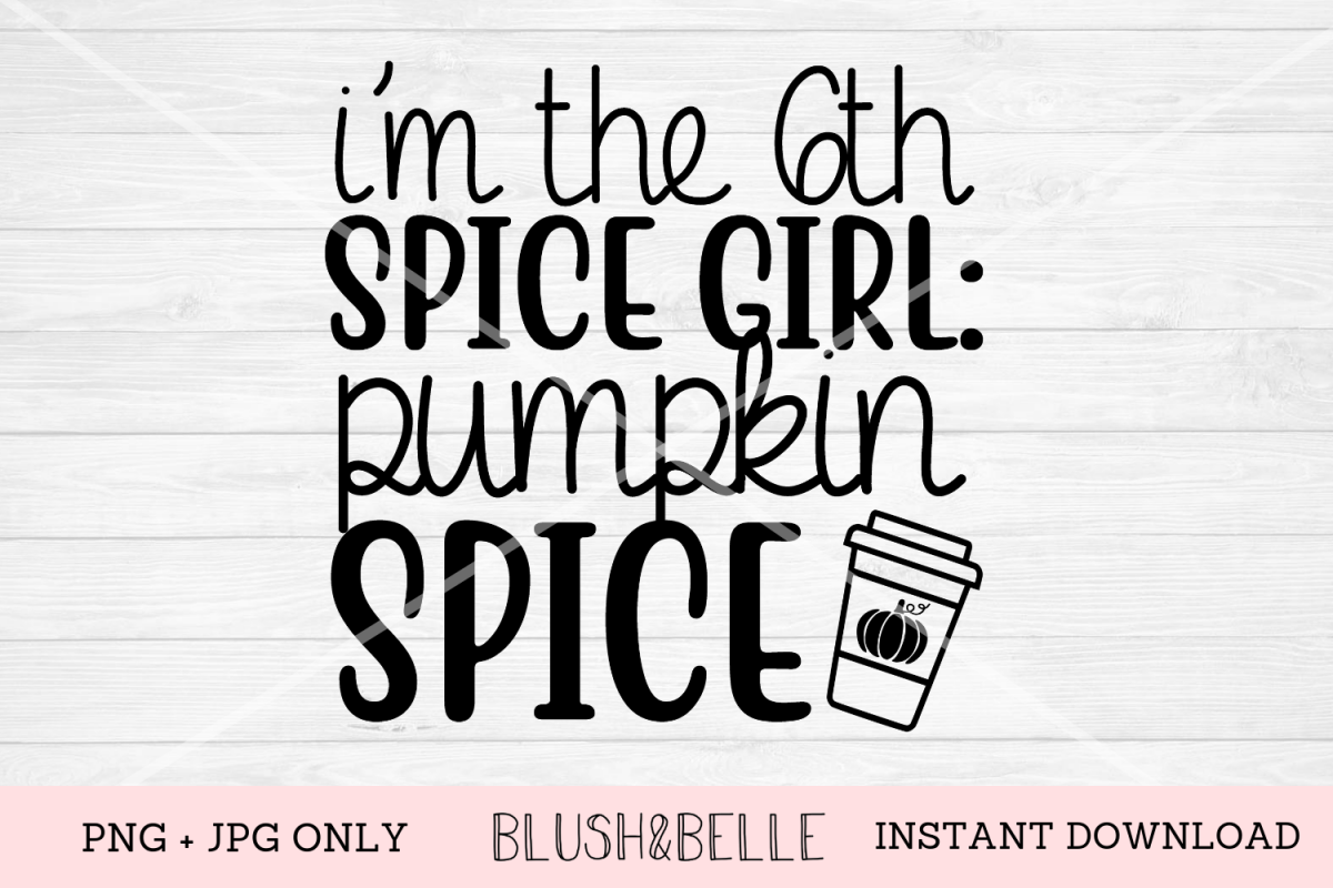 6th Spice Girl, Pumpkin Spice - PNG, JPG example image 1