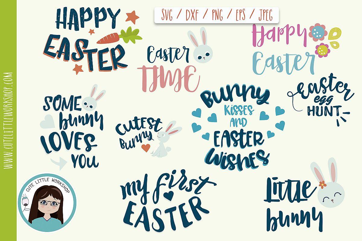Svg Easter Bundle svg, dxf, png, eps example image 1