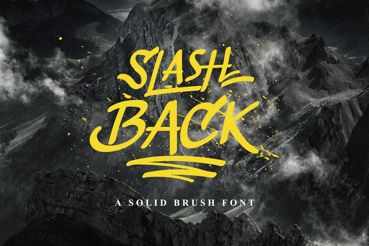 Slashback Typeface example image 1
