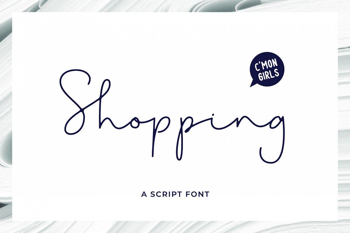 Shopping Font example image 1
