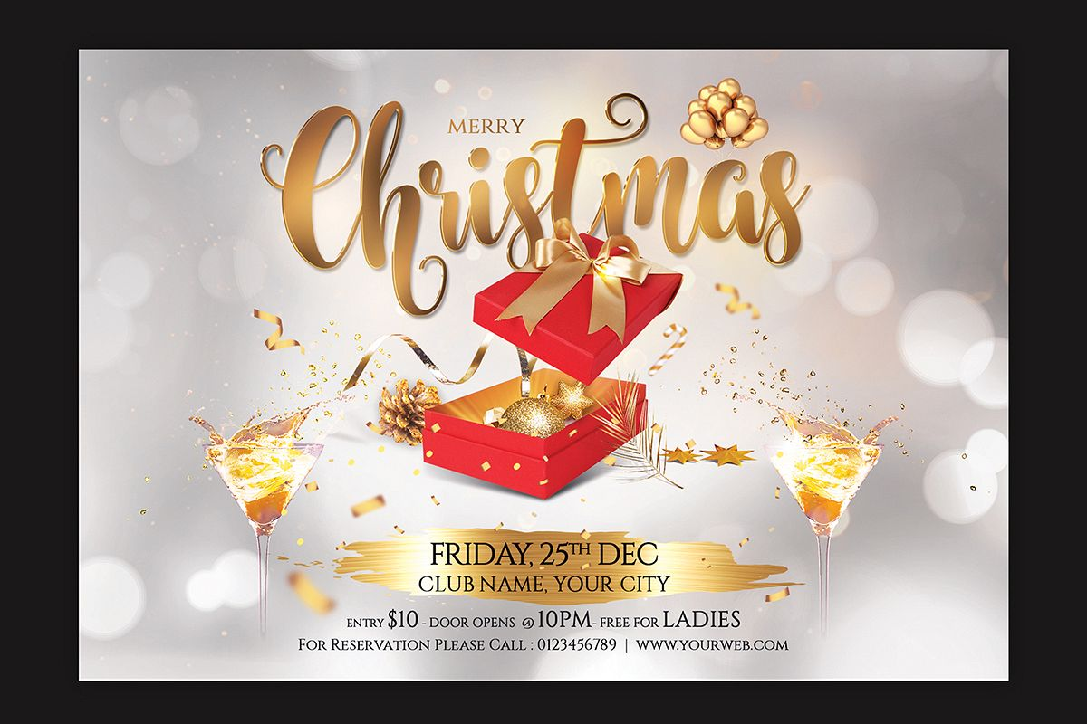 Christmas Party Flyer example image 1