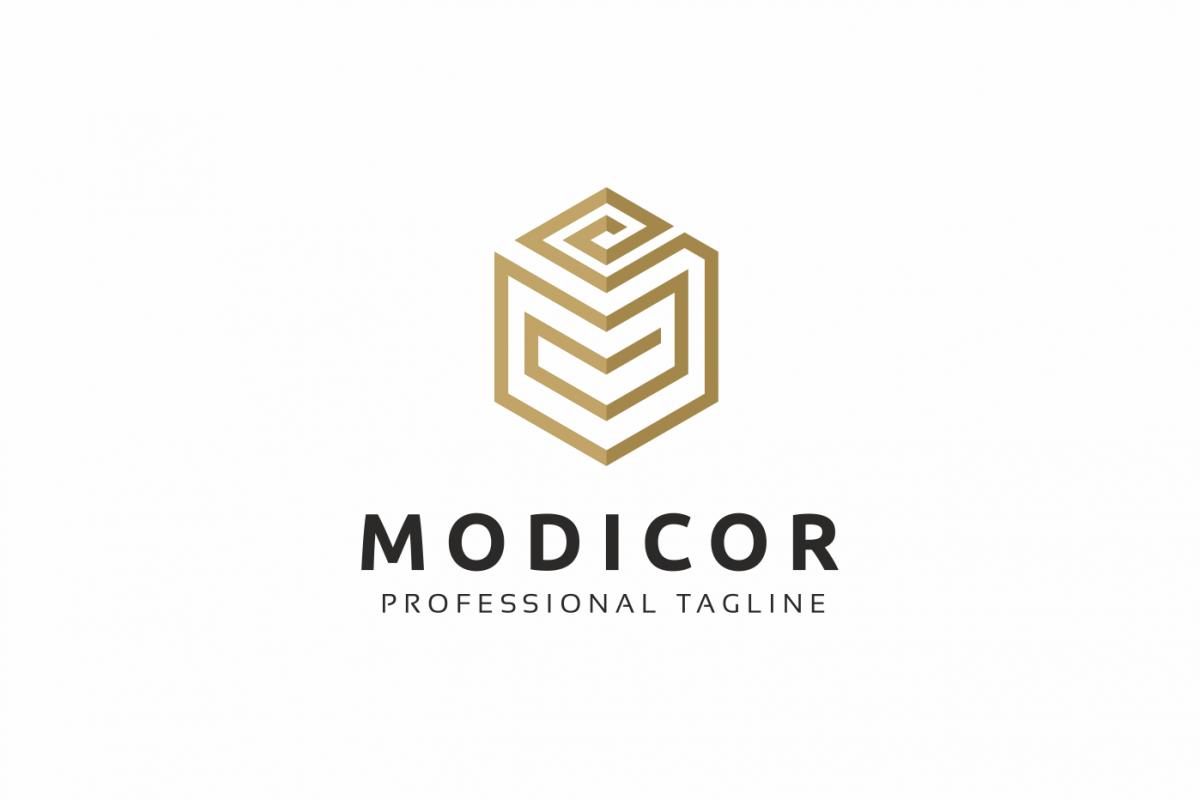 Modicor M Letter Logo example image 1