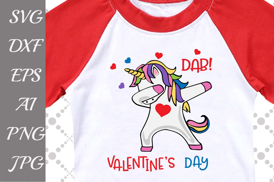Dab Valentine's Day Svg example image 1