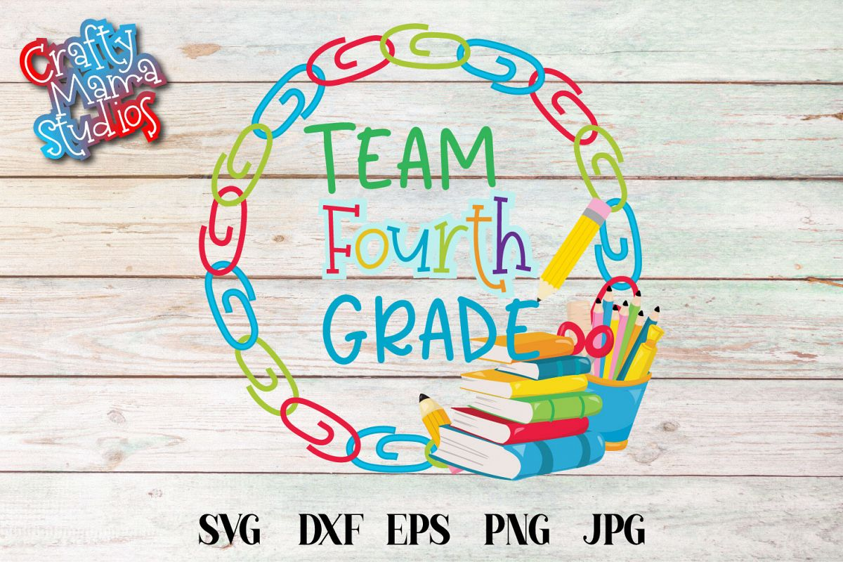 Team Fourth Grade SVG, Fourth Grade Tribe Sublimation example image 1