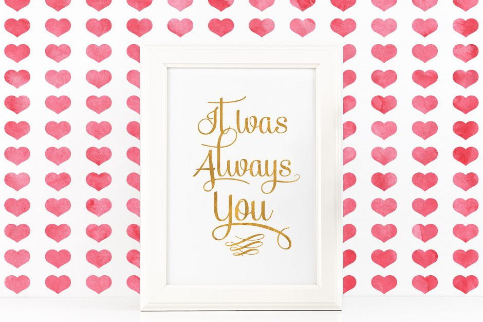 It Was Always You Poster to Print Inspirational Quote + SVG files example image 1