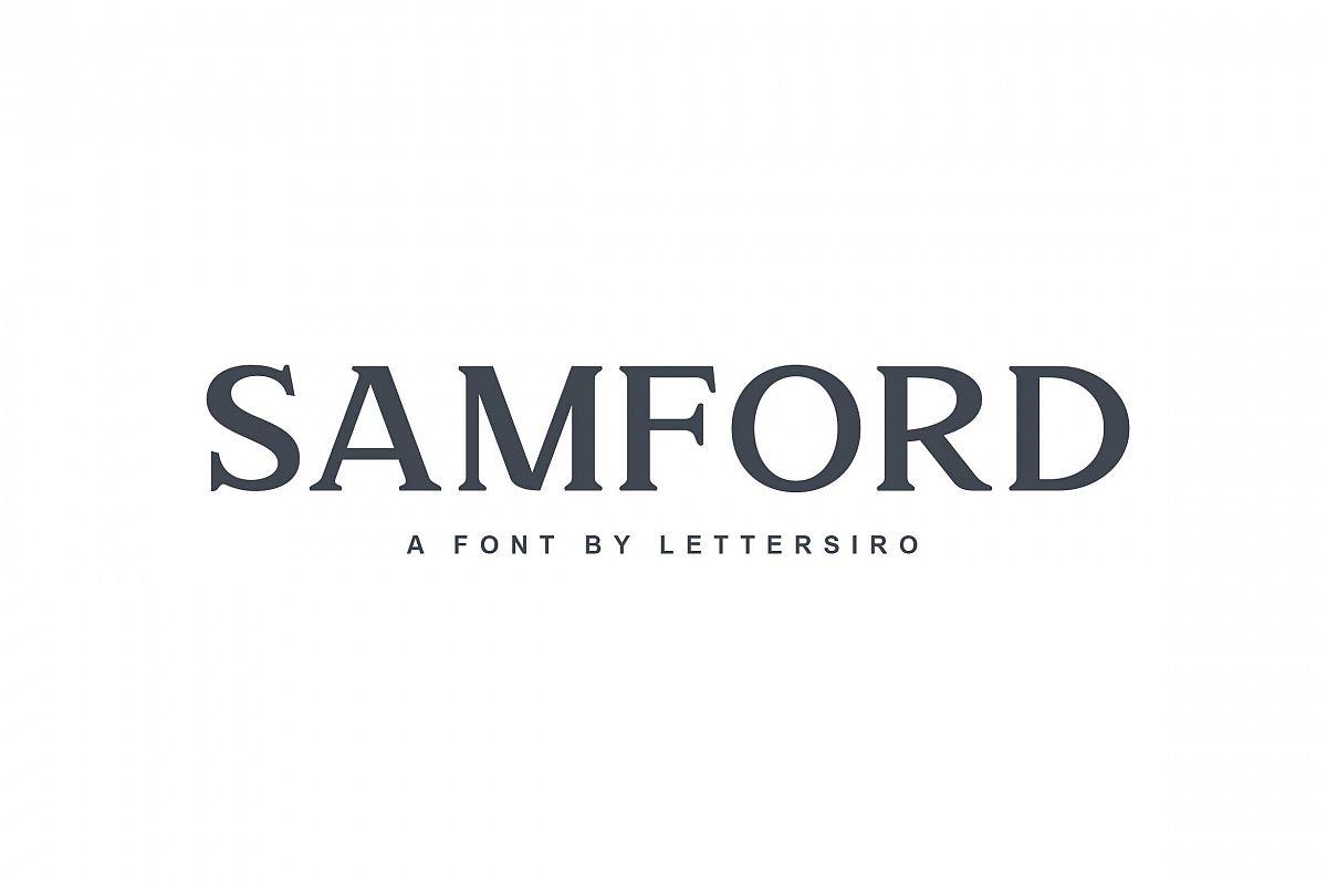 Samford font example image 1