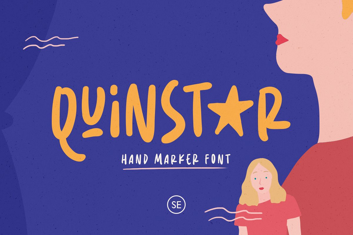 Quinstar - Hand Marker Font example image 1