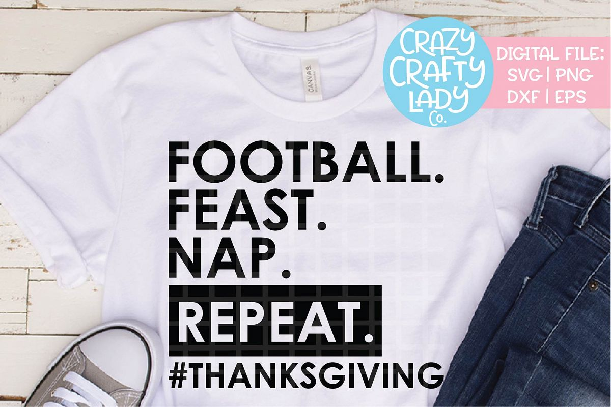 Football Feast Nap Repeat SVG DXF EPS PNG Cut File example image 1