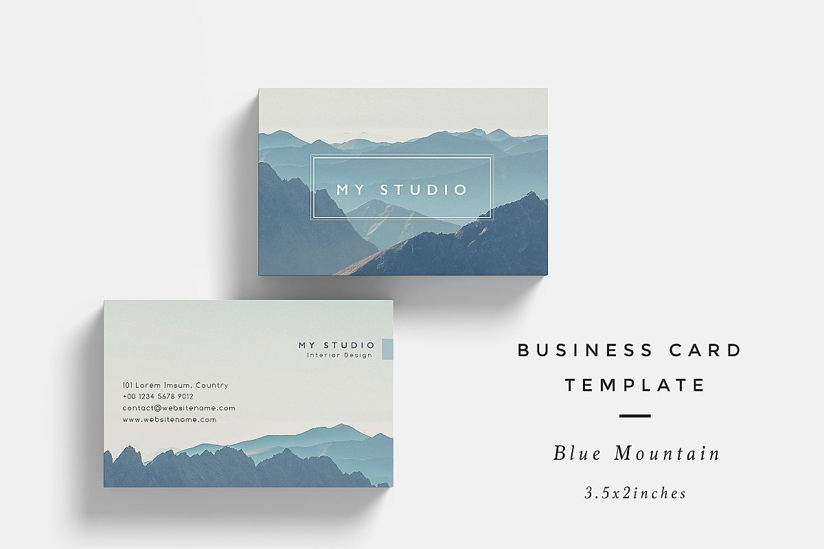 blue mountain business card template
