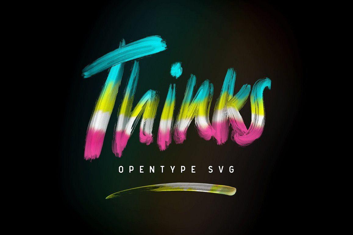 Thinks Opentype Svg example image 1