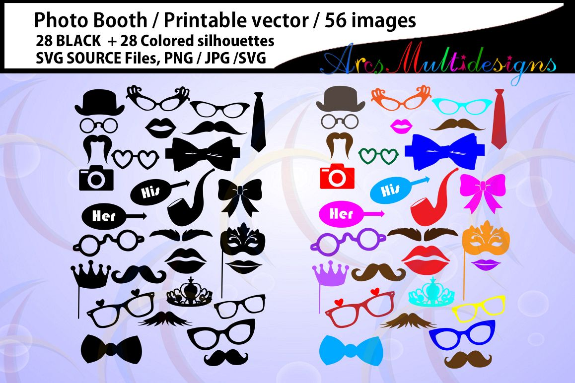 396d65c594c photo booth svg   Props svg   28B + 28C   photo booth props   cut files ...