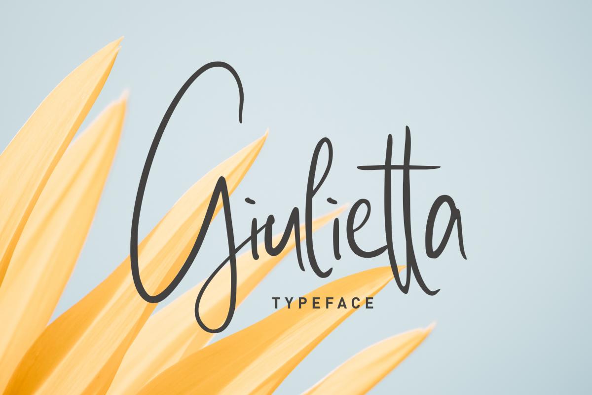 giulietta \\ handwriting example image 1
