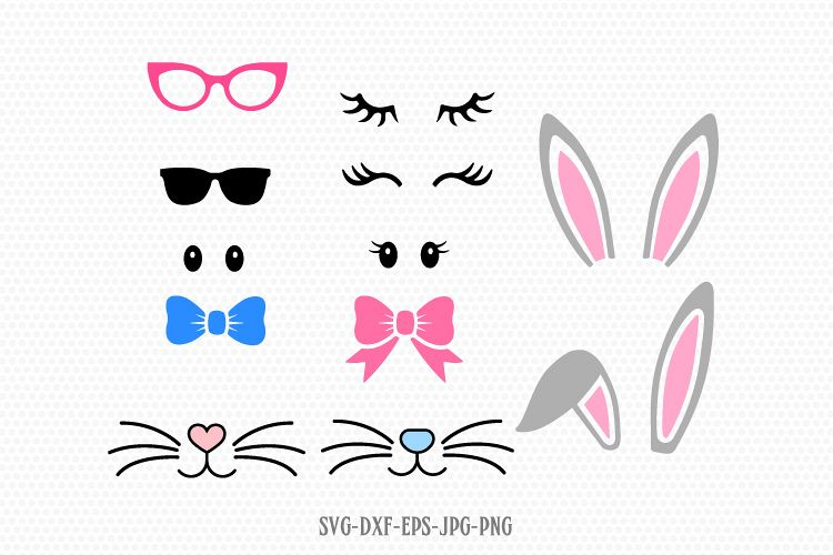easter bunny design kit svg example image 1