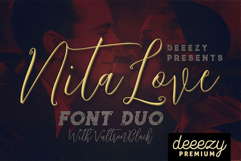 Nitalove Font Duo example image 1