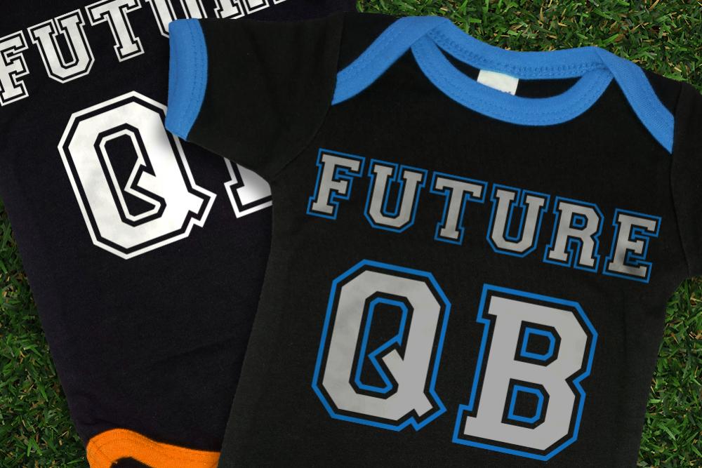 Football Future QB SVG File Cutting Template example image 1