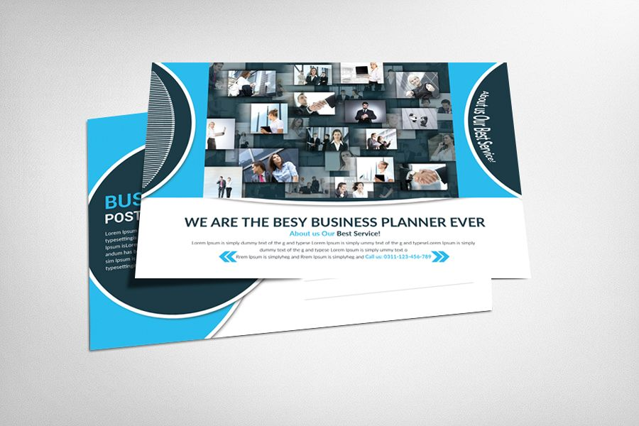 Marketing Business Postcard Template example image 1