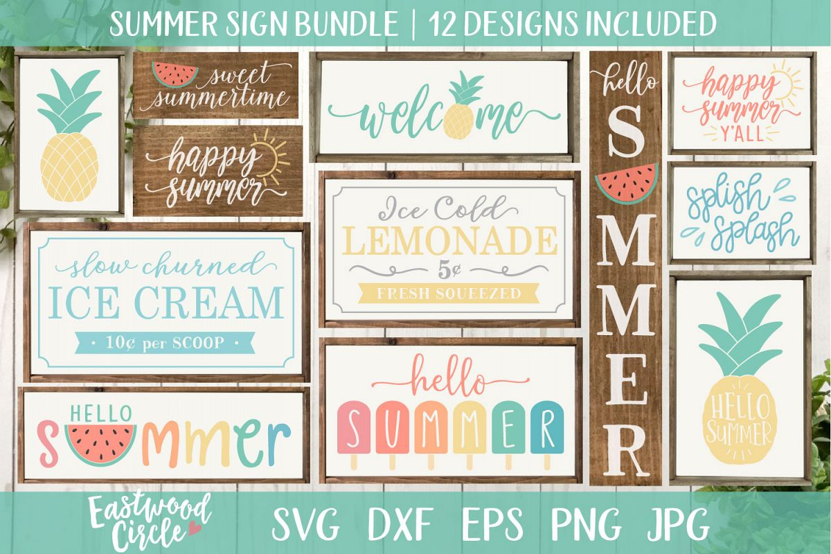 Summer SVG Bundle - Cut Files for Signs example image 1