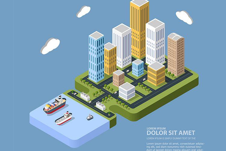 Urban neighborhoods, skyscrapers example image 1