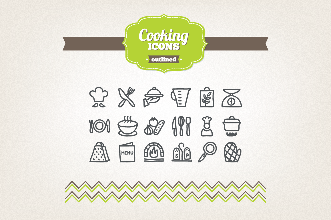 Hand Drawn Cooking Icons example image 1