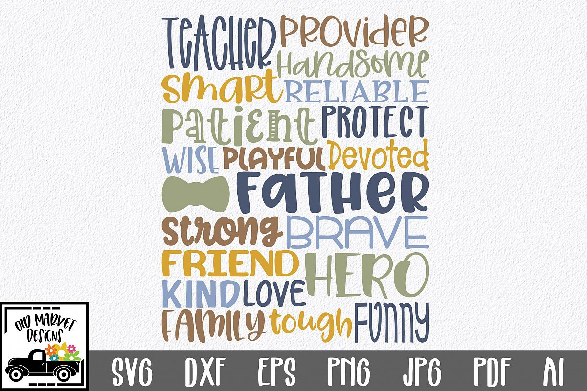 Fathers Day Subway Art SVG Cut File example image 1