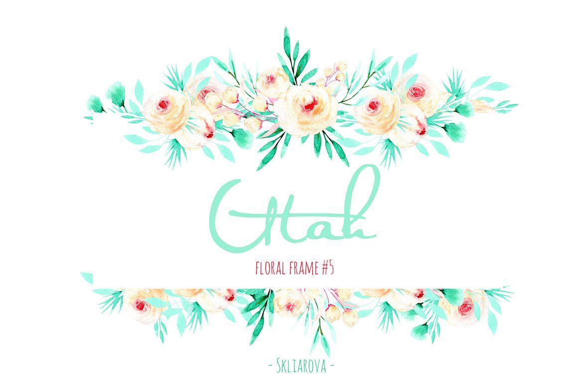 """Utah"". Floral mint frame #5 example image 1"