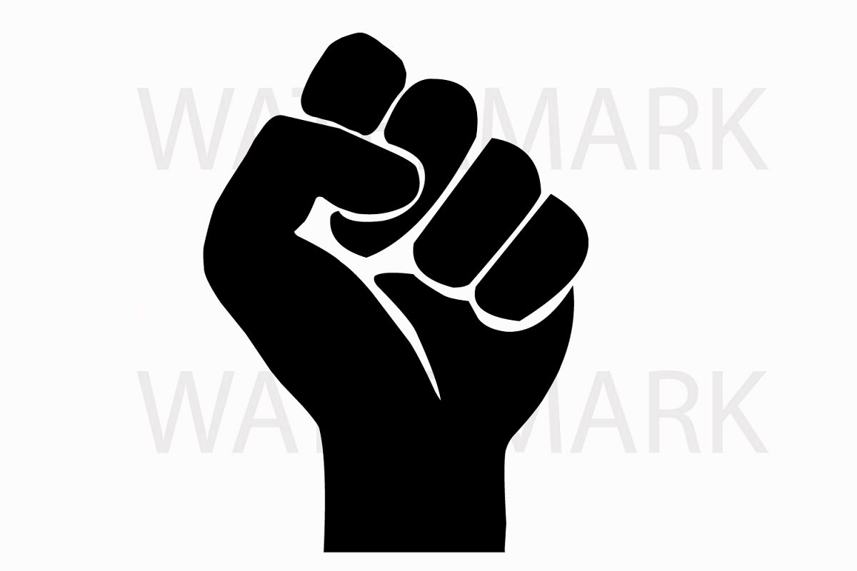 Fist for power svg jpg png hand drawing example image 1